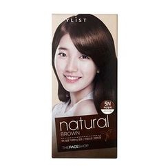 The Face Shop - Stylist Silky Hair Color Cream (#5N Natural Brown) 130ml