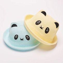 Buttercap - Kids Panda Straw Hat