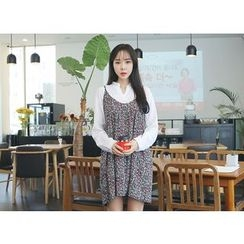 Envy Look - Spaghetti-Strap Floral-Pattern Dress