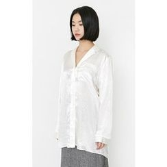 Someday, if - Pocket-Front Satin Blouse