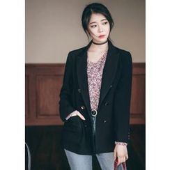 Chlo.D.Manon - Asymmetric-Lapel Metal-Button Blazer