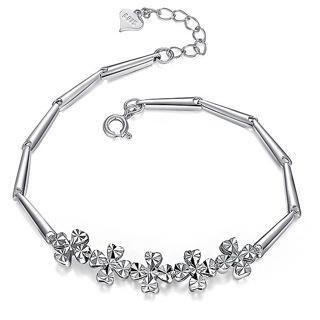 BELEC - Elegance 925 Sterling Silver Four-leafed Clover Bracelet