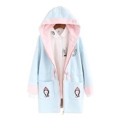 Softies - Embroidered Hooded Zip Coat