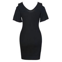 Obel - Plain Short Sleeve Dress