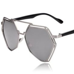 GIMMAX Glasses - Mirrored Double-bridge Sunglasses