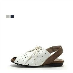 MODELSIS - Genuine Leather Perforated Sandals