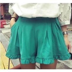 Oaksa - Ruffle Trim Shorts