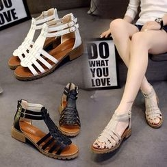 BAYO - Faux Leather Gladiator Sandals