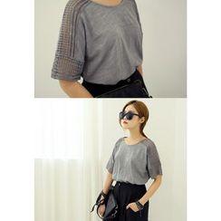 REDOPIN - Lace-Trim T-Shirt