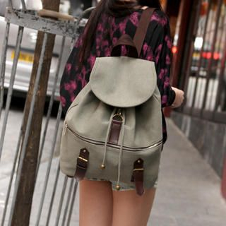 59 Seconds - Canvas Drawcord Backpack