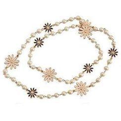 Best Jewellery - Faux-Pearl Flower Necklace