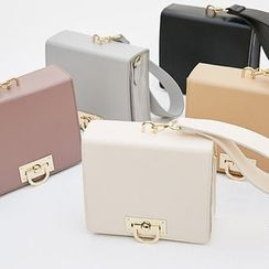 chuu - Metal-Closure Square Hand Bag