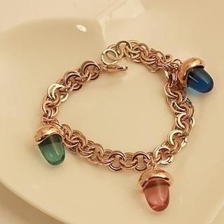 Love Generation - Crystal Pinecone Chain Bracelet