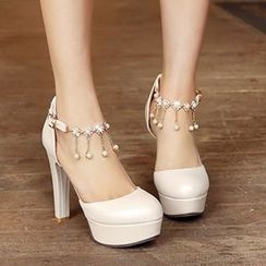 CITTA - Embellished High-heel Pumps