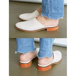 FROMBEGINNING - Faux-Leather Mules
