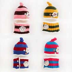JIMIJIMI - Baby Set: Striped Beanie + Scarf