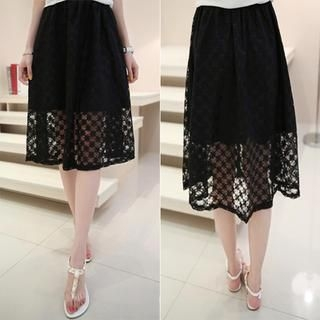 Small Mosquitoes - Lace Midi Skirt