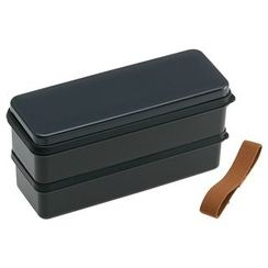 Skater - Earth Color Seal Lid 2 Layer Lunch Box (Black)