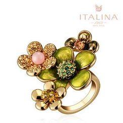 Italina - Swarovski Elements Crystal Flower Ring