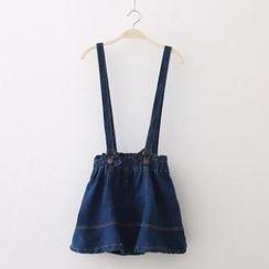 SOPOL - Denim Jumper Skirt