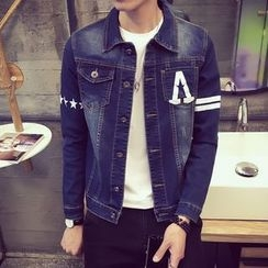Besto - Printed Denim Jacket