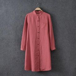 Rosadame - Long-Sleeve Shirt Dress