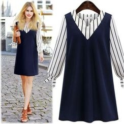 Hanni - Mock Two-Piece Dress