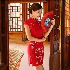 Bridal Workshop - Cap-Sleeve Flower Cheongsam