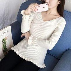 Tangi - V-Neck Knit Pullover