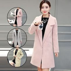 Sienne - Notched Lapel Wool Blend Coat