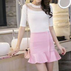Sienne - Ruffle Hem Mini Skirt