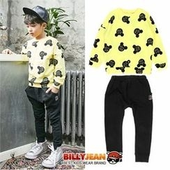 BILLY JEAN - Boys Set: Pattern Sweatshirt + Cotton Sweatpants