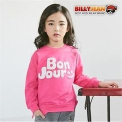 BILLY JEAN - Girls Embossed-Lettering Sweatshirt
