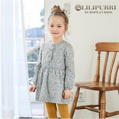 LILIPURRI - Girls Floral Print A-Line Dress