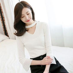 Rosehedge - Cut Out Front 3/4 Sleeve Top