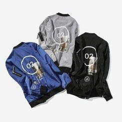 T for TOP - Zip Baseball Jacket