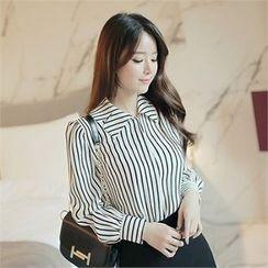 CHICLINE - Stripe-Patterned Blouse