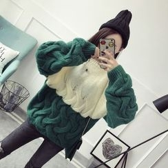 Qimi - 麻花針織厚款毛衣