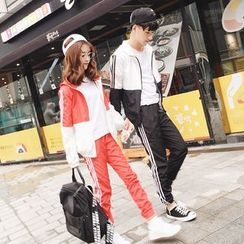 CASSY - Set: Couple Matching Zip Jacket + Sweatpants