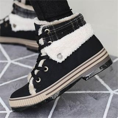 CHICFOX - Faux-Fur Lined Sneakers