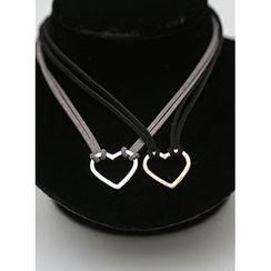 icecream12 - Heart Pendant Choker Necklace