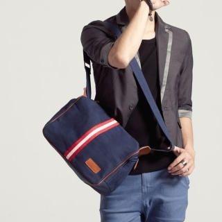 K-Style - Contrast-Trim Crossbody Bag