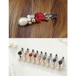 soo n soo - Embellished Flower Hair Pin