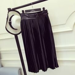 RUI - Pleated Midi Skirt