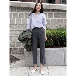 maybe-baby - Flat-Front Dress Pants