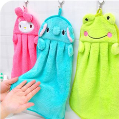 School Time - Animal Coral Fleece Hand Towel