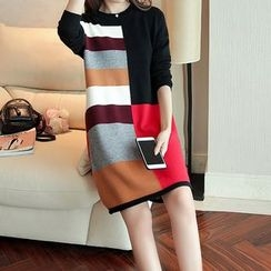 Gemuni - Colour Block Long Knit Top