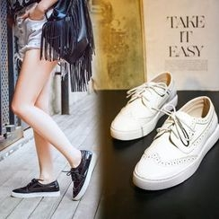 Monde - 結帶布洛克鞋