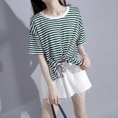 Sonne - Reversible Striped T-Shirt