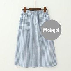 Meimei - Striped A-line Skirt